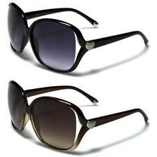 NEW BLACK SUNGLASSES DESIGNER LADIES WOMENS GIRLS OVERSIZED LARGE UV400 VINTAGE