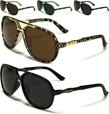 NEW BLACK SUNGLASSES POLARIZED MENS LADIES UNISEX DESIGNER AVIATOR LARGE UV400