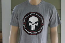 New Punisher Skull God Will Judge Our Enemies T-Shirt Tee Military Support Seal