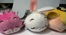 CHESHIRE CAT~WHITE RABBIT~ALICE~in Wonderland~KEY CHAINS~Plush~Disney Store