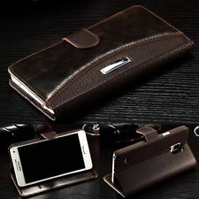 Luxury Leather Magnetic Flip Card Wallet Case Cover For Samsung Galaxy/iPhone