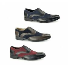 Azor MILLER Mens Leather Formal Lace Up Round Toe Office Oxford Brogues Shoes