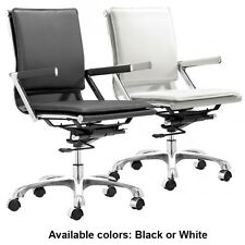 Lider Plus Office Chair Zuo Modern Task Chair Ergonomic Arm Chair BLACK or WHITE