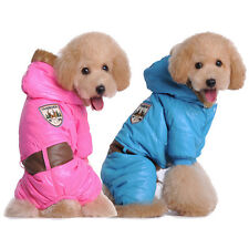 New Pet Coat Pink Blue Dog Jacket Winter Clothes thicken Cat Clothing Apparel rr