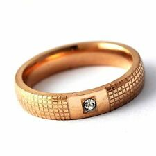 fashion gold filled Mesh CZ Mens Womens Band Ring jewelry SZ 6 7 8 9