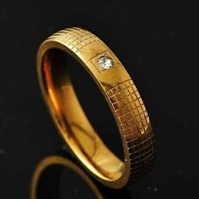 Mesh Womens Yellow Gold Filled Clear CZ Ring Size 8 9 10 11 Free Shipping