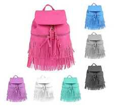 Ladies Fringes Backpack Bag Shoulder Bag City Backpack Street Bag Backpack