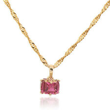 18K Gold Plated Multicolor CZ Gift Package Pendant Only Fit  Long Chain Necklace