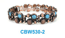 Turquoise Gemstone - Women Copper link high power magnetic bracelet CBW530-2