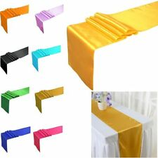 "10PCS 12""x108"" 20x275cm Satin Table Runner Wedding Party Decorations Colors"