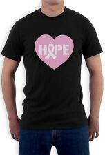 Hope Breast Cancer Awareness Heart Shaped Pink Ribbon T-Shirt Support