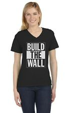 Build The Wall Republican Party Election Campaign V-Neck Women T-Shirt Political