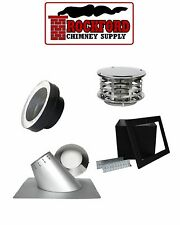 Pitched or Flat Ceiling Insulated Chimney Pipe Kit by Rock-Vent