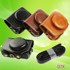 For Canon Powershot G7X camera Leather Camera Case Cover Bag with Strap