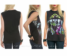 NEW Disney Sleeping Beauty Maleficent Dragon Stained Glass JRS. Muscle Tank Top