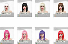 Quality synthetic  Long bob wigs Ladies Bob square Cut wig with fringe .