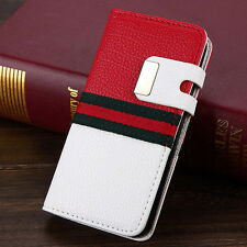 Luxury PU Leather Magnetic Flip Card Wallet Case Cover Pouch For iPhone 5/5S/SE