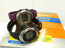 TIMEX LADIES' HEALTH TOUCH HEART RATE MONITOR ALARM CHRONOGRAPH RRP £64.99