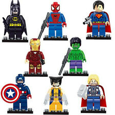 Cute 8pcs Super Heroes Figures Doll Building Blocks Kids Children Baby Toy Gift