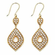 Bellezza Gemstone Marquise Shape Drop Earrings Yellow Gold Clad Bronze