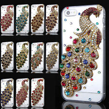 Luxury 3D Bling Crystal Diamond Peacock Clear Case Cover For iPhone 4/4S/5/5S/SE