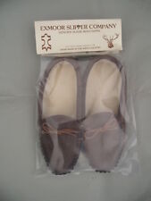 Mens sheepskin slippers soft sole moccasins exmoor made uk  size 5,6,7,8,9,10,11