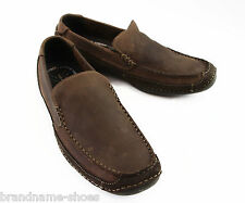 MENS HUSH PUPPIES SAMUEL BROWN LEATHER EXTRA WIDE SLIP ON  MEN'S CASUAL SHOES