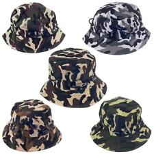 Mens Camo Military Boonie Cap Sun Bucket Snap Brim Bush Army Fishing Hiking Hat