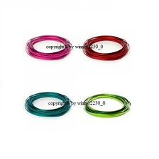 Select 4mm or 6mm Wide Flat Aluminium Craft Florist Decor Wire RED GREEN BLUE