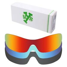 MRY POLARIZED Replacement Lenses for-Oakley Antix Fire Red / Ice Blue / Black