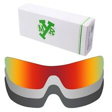 MRY POLARIZED Replacement Lenses for-Oakley Batwolf Fire Red / Silver / Black