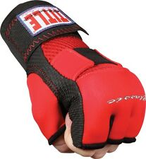 Title Boxing Gel Glove Wraps MMA Training Youth Adult Size S M L XL - Red/Black