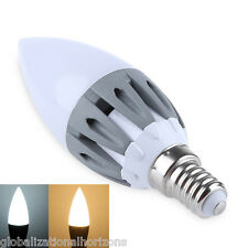 E14 Candle Bar Bulb Lamp 220-240V 3W LED Dimmable Spot Wall Decor Bed Room Light
