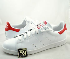 New 11 adidas Originals Mens Stan Smith Shoes Running White/Red M20326 Tennis