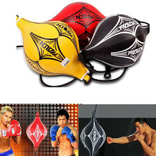Double End Muay Thai Boxing Punching Bag Speed Ball Training Fitness Black/Red/Y