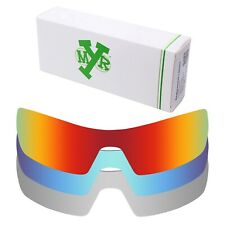Mryok POLARIZED Replacement Lenses for-Oakley Oil Rig Red / Blue / Silver