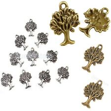 10pcs Antique Silver/Gold/Bronze Tree Pendants DIY Jewelry Making Charms