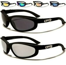 NEW SUNGLASSES MENS LADIES BLACK CHOPPERS WRAP AROUND UV400 BIKER MOTOR CYCLE