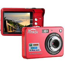 Amkov CDC32 18MP 2.7 Inch TFT LCD 8X Digital Zoom Anti-shake USB Digital Camera