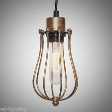 Cage Gold Metal Vintage Retro Ceiling Chandelier Pendant Light Industrial Lamp