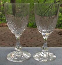 TWO St Saint Louis Crystal Cristal Massenet Burgundy Wine Goblets