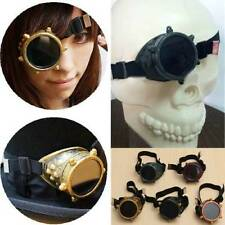 Steampunk Goggles Vintage Victorian  Cyclops Glasses Welding Cyber Cosplay Punk