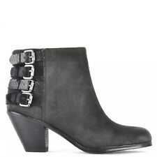 Sam Edelman Lucca Black Leather Ankle Boots RRP £185