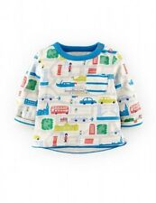 Baby & Boys NEW Ex Store Mini Boden Reversible T-Shirt Top - 0-3m 12-18m 2-3y