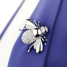 Sparkling Cute Little Bee Deluxe Crystal Insect Brooch Pin Women Men Brooch