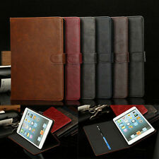 Glossy Leather Folio Smart Case Stand Card Slot Cover For Apple iPad Mini 1 2