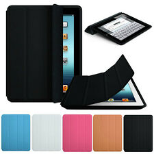 Luxury Slim Stand Smart Magnetic Case Leather Back Cover For Apple iPad 2 3 4