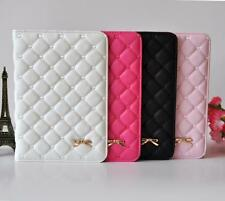 Hot Sale Luxury Elegant Bowknot Leather Smart Case Stand Cover For IPad Mini 2 3