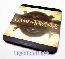 NEW OFFICIAL GAME OF THRONES OPENING LOGO COASTER DRINKS MAT