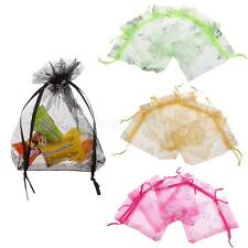 50pcs Butterfly Organza Jewelry Gift Candy Pouch Bags Wedding Party Favour Gift